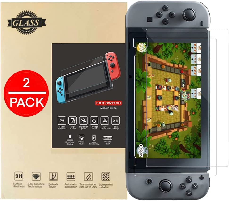 2 New product! New type Pack HD Tempered Glass Nintendo Screen Portland Mall for Switch Protector