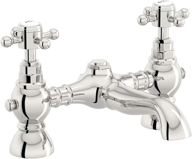 Nes Home   Kano Traditional Chrome Bathroom Bath Filler Mixer Tap