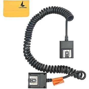 2 m 6,5 Cable de conexi/ón y sincronizaci/ón para Flash Speedlite PHOLSY TTL Cable de Flash Externo para Olympus//Panasonic Reemplazo Olympus FL-CB05