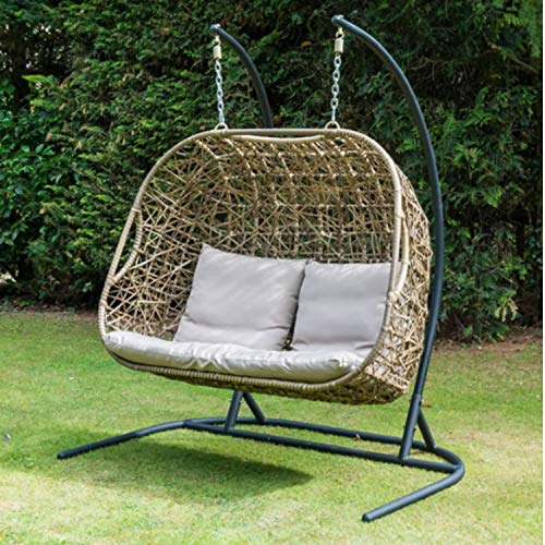 1 Gorgeous Double Egg Hanging Chair With Stand Astonshedsuk