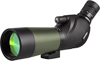 Gosky 20-60x60 Waterproof Spotting Scope -BAK4 Angled Spotting Scope for Bird Watching Target Shooting Archery Scenery - with Tripod and Digiscoping Adapter - Get The World into Screen