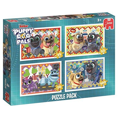 Jumbo Disney Puppy Dog Palls 4 - Rompecabezas (Puzzle Rompecabezas, Dibujos, Preescolar, Cachorro, Chica, 3 año(s))