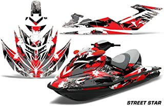 AMR Racing Jet Ski Graphics kit Sticker Decal Compatible with Sea-Doo RXT 2005-2009 - Street Star Red
