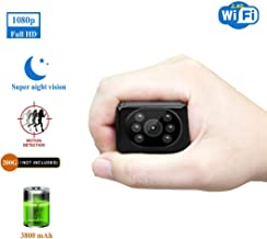 Spy Camera Wireless Hidden HD1080P WiFi Indoor Home Small Security Camera Portable Nanny Cam with APP Night Vision Motion Detection 155° Wide View Angle