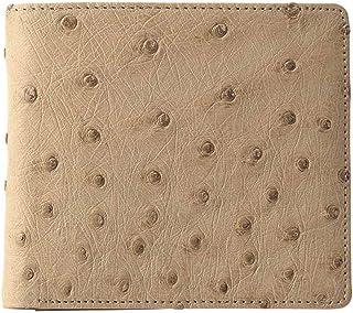 紳士用オーストリッチ財布 ベージュ S-NO8250040BE