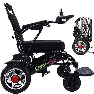 ComfyGO Extreme Sport Portable Motorized Electric Power Wheelchair Foldable Lightweight Dual Motor Aviation Travel Long Range (Seat Width 19