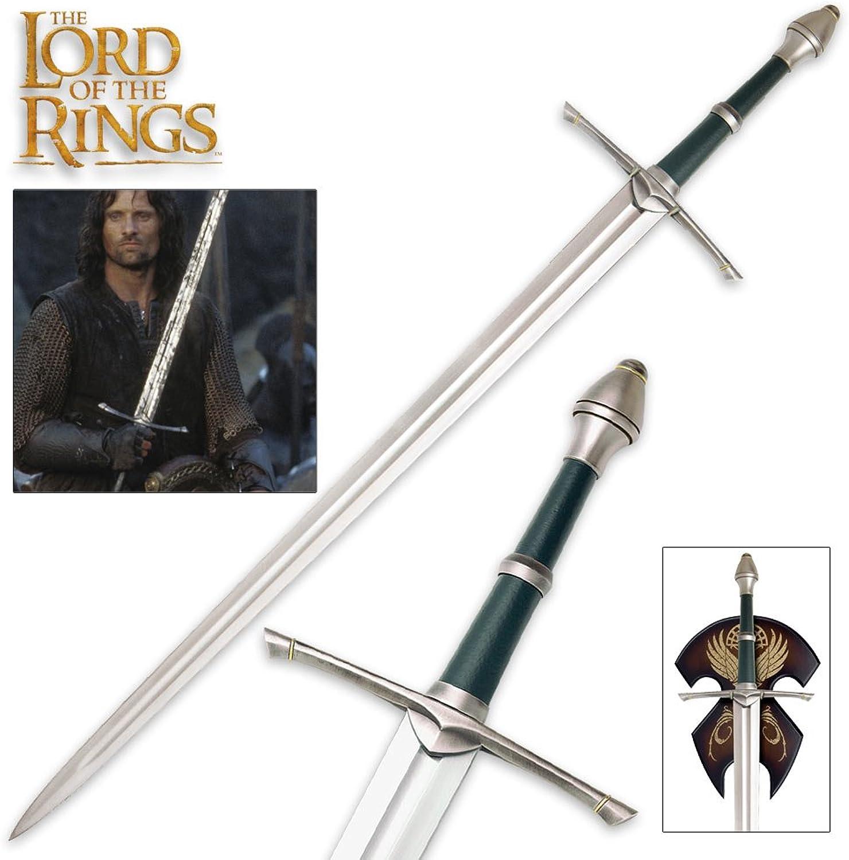 Herr der Ringe Streichers Ranger Schwert Aragorn Dekoschwert mit Wandplatte 120 cm für Sammler B00063SURQ  Helle Farben    Hat einen langen Ruf