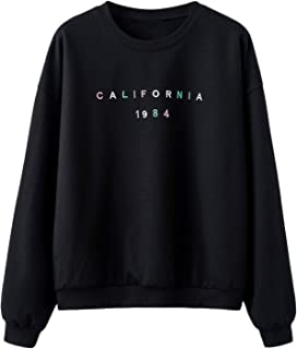SweatyRocks Women's Splicing Tops Color Block Patch Pullover Sweatshirt