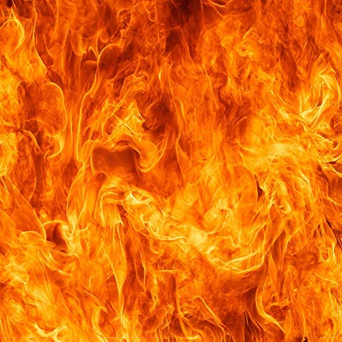RBQOKJ 8x8ft Dancing Flame Backdrop Burning Orange Fire Photography Background for Theme Party Portrait Photoshoot Backdrops Prop Studio
