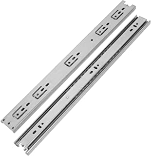 VADANIA 8-Inch Drawer Slide, A1045 Chrome, Ball Bearing 3 Folds Full Extension, Side Mount, 100 Lb Load Capacity, 1 Pair (...