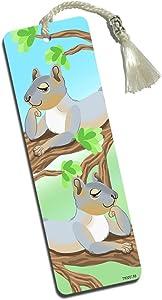 Sassy Squirrels Printed Bookmark with Tassel