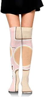 Desayuno Jugar Comida Mujer sobre rodilla Calcetines hasta el muslo Niña Medias altas 65 Cm / 25.6In