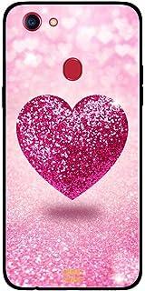 Oppo F5 Case Cover Pink Glitter Heart, Moreau Laurent Premium Phone Covers & Cases Design