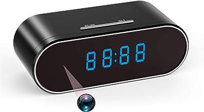 1080P HD Hidden Camera Wireless WiFi Hidden Camera Clock, Surveillance Nanny Cam for Home Security Monitor Video Recorder ...