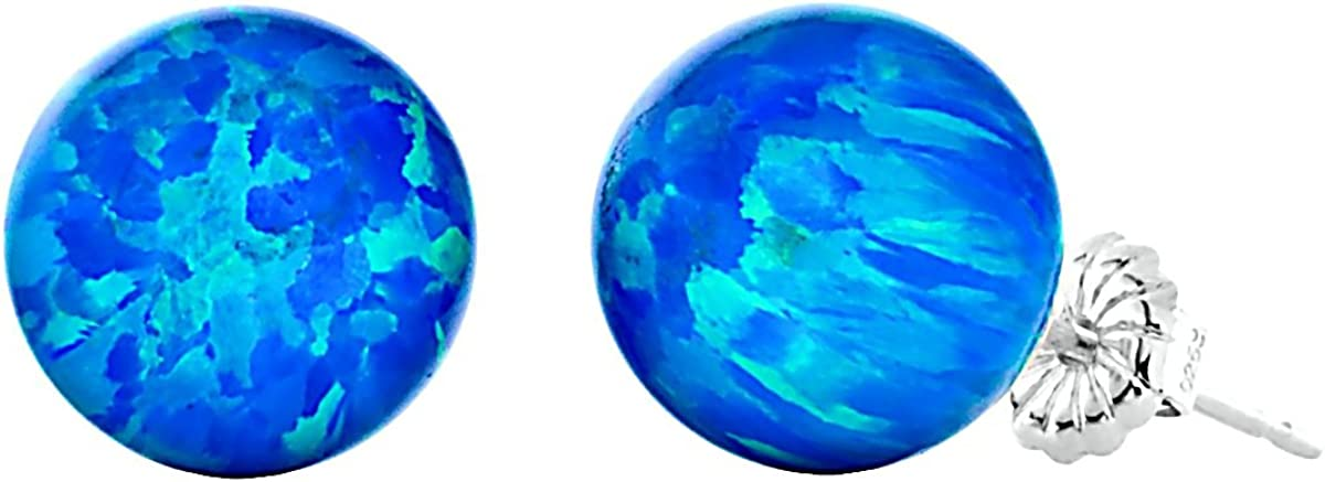 Trustmark 925 Nashville-Davidson Mall Sterling Silver Tropical Ball New Shipping Free Shipping Opal Blue Synthetic