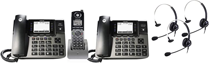 $429 » Motorola ML1002SE DECT 6.0 Expandable 1-4 Line Business Phone System with Voicemail, Digital Receptionist and Music on Hol...