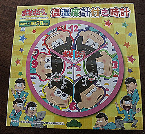 おそ松さん 温湿度計付 時計 プチ松野6兄弟