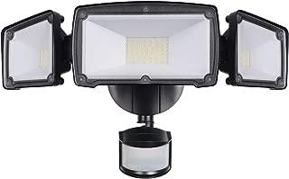 LEPOWER 3500LM LED Security Lights, 39W Super Bright Outdoor Motion Sensor Light, 6000K, IP65 Waterproof, 3 Adjustable Heads & ETL Certified Motion Activated Flood Light for Entryways, Yard