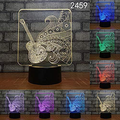 Nachtlampje 3D LED nachtlicht koplamp USB cadeau acryl licht