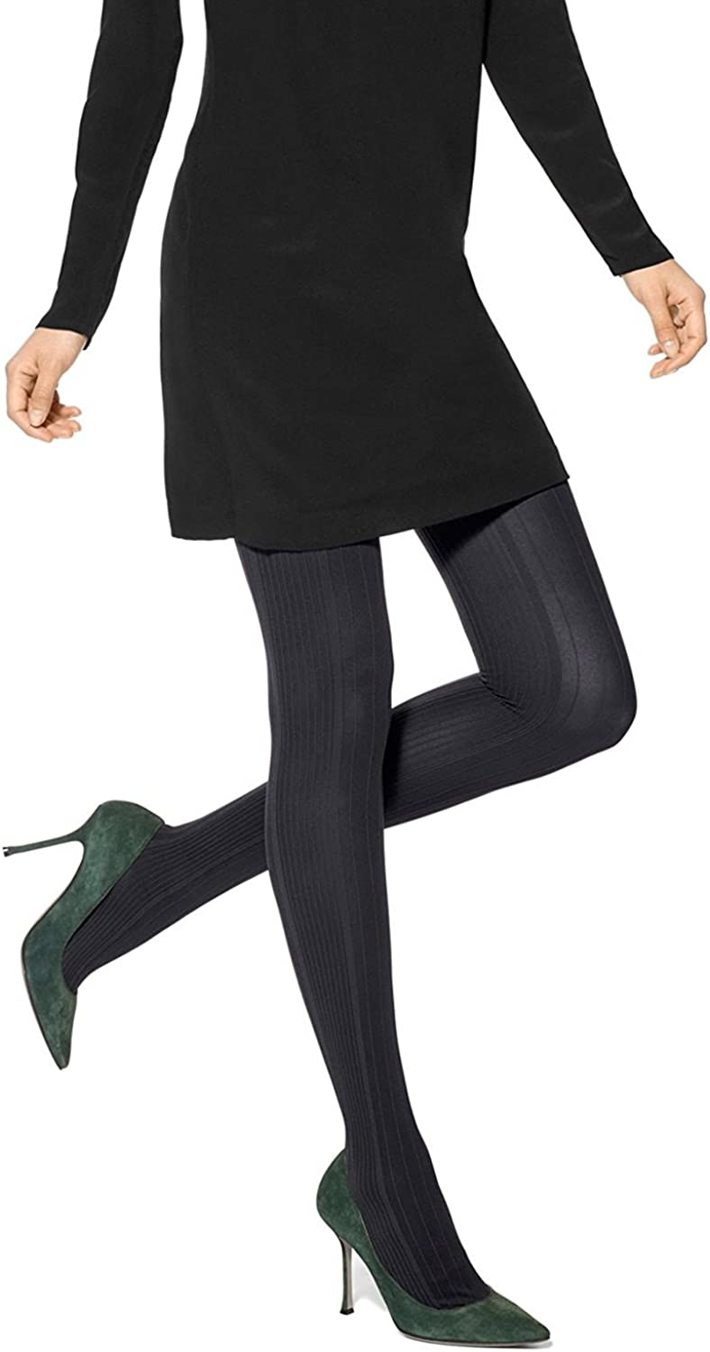 HUE Vertical Diamond Tights With Control Top