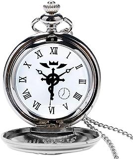 Steampunk Orologio da tasca, Fullmetal Alchemist Snake Style Orologi da Taschino per gli uomini, collana orologio da tasca...