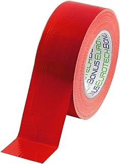 Bonus Eurotech 1bc12.77.0050/050a # estándar Duct Tape, pegamento a base de sintéticos Caucho, LDPE pantalla de un tejido Pet, longitud 50m x ancho 50mm x grosor 0,17mm, Rojo