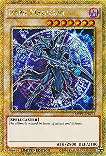 Yu-Gi-Oh - Dark Magician - MVP1-ENGV3 - Gold Secret Rare - Limited Edition - the Dark Side of Dimensions Movie Pack Gold E...