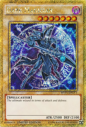 Yu-Gi-Oh - Dark Magician - MVP1-ENGV3 - Gold Secret Rare - Limited Edition - the Dark Side of Dimensions Movie Pack Gold Edition (Limited Edition)