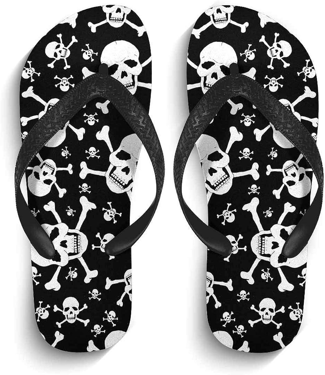 INTERESTPRINT Non-Slip Flip Flops Black Straps Colorful Traditional Japanese Umbrellas Summer Beach Thong Sandal for Men