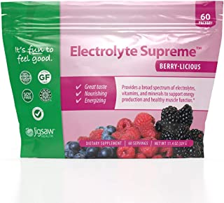 Jigsaw Health Electrolyte Supreme Packets, Berry Licious, 60 Servings