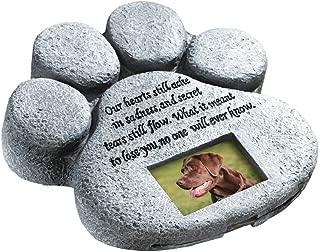 ETC Paw Print Pet Outdoor Memorial Stone, with 2