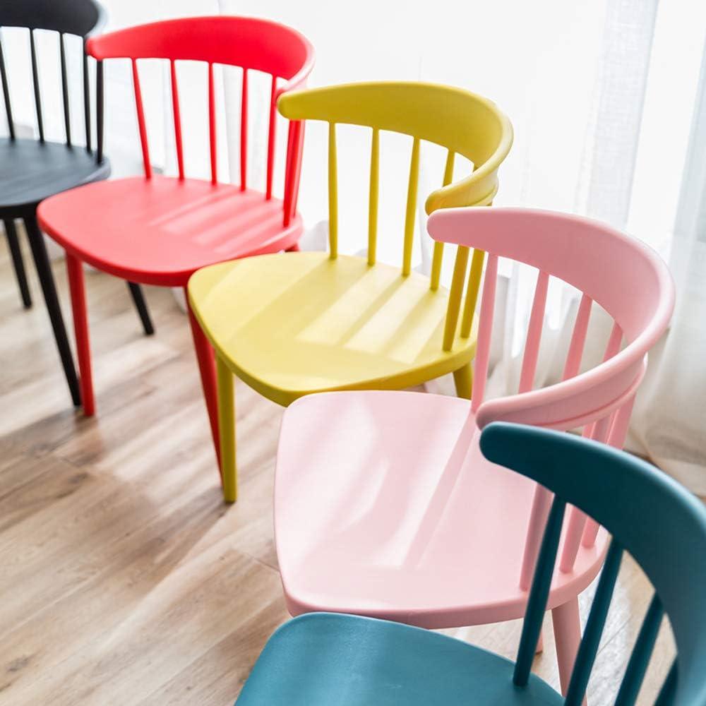QINGMM Chaise, Chaise Empilable, Chaise en Plastique Moderne, Président Patio Extérieur, Chaise De Jardin, Café Chaise pour Chaise Intérieur/Extérieur,Light Coffee Dark Blue