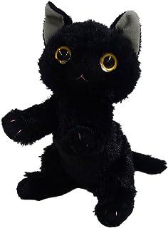 いっしょがいいね ビーンズぬいぐるみ(2S) 高さ15cm 黒猫