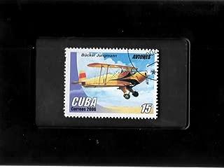 Tchotchke Framed Stamp Art - War Planes - Luftwaffe Trainer - Bücker Bü 131