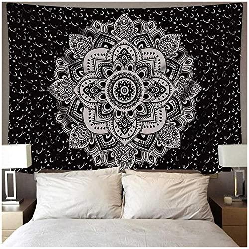 BD-Boombdl Tapiz de montaje en pared decoración de mandala estilo bohemio estera de dormir alfombra de playa alfombra de camping tienda de campaña colchón de viaje 59.05'x51.18'Inch(150x130 Cm)