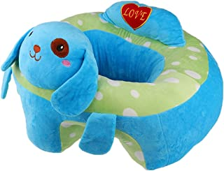MonkeyJack Colorful Baby Support Seat Learn Sit Soft Chair Cushion Sofa Plush Pillow Toys - Blue Dog