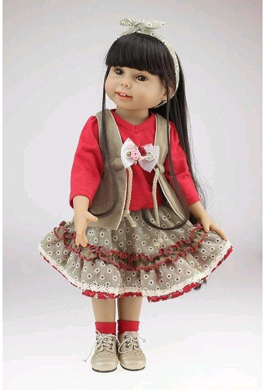 Rocking Horse Puppen,Reborn Baby Doll Lebensechte Blonde Weiche Silikon-Puppe Handgemachte Kinder Spielzeug Geschenkset