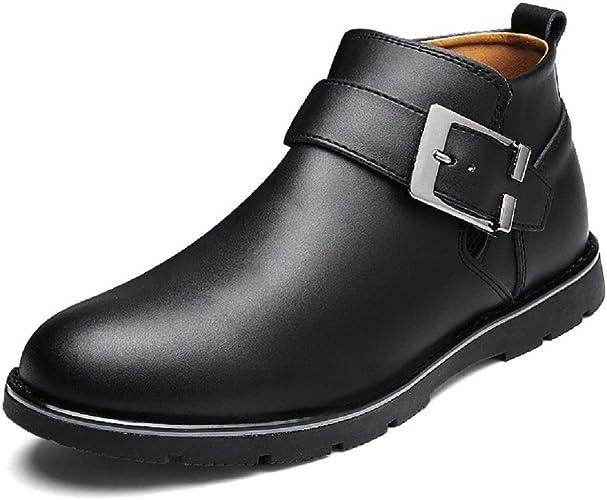 Homme Le nouveau Mode Chaussures de loisirs Chaussures en cuir Chaussures plates Garder au chaud Hiver Bottes Pied de prougeection EUR TAILLE 38-44