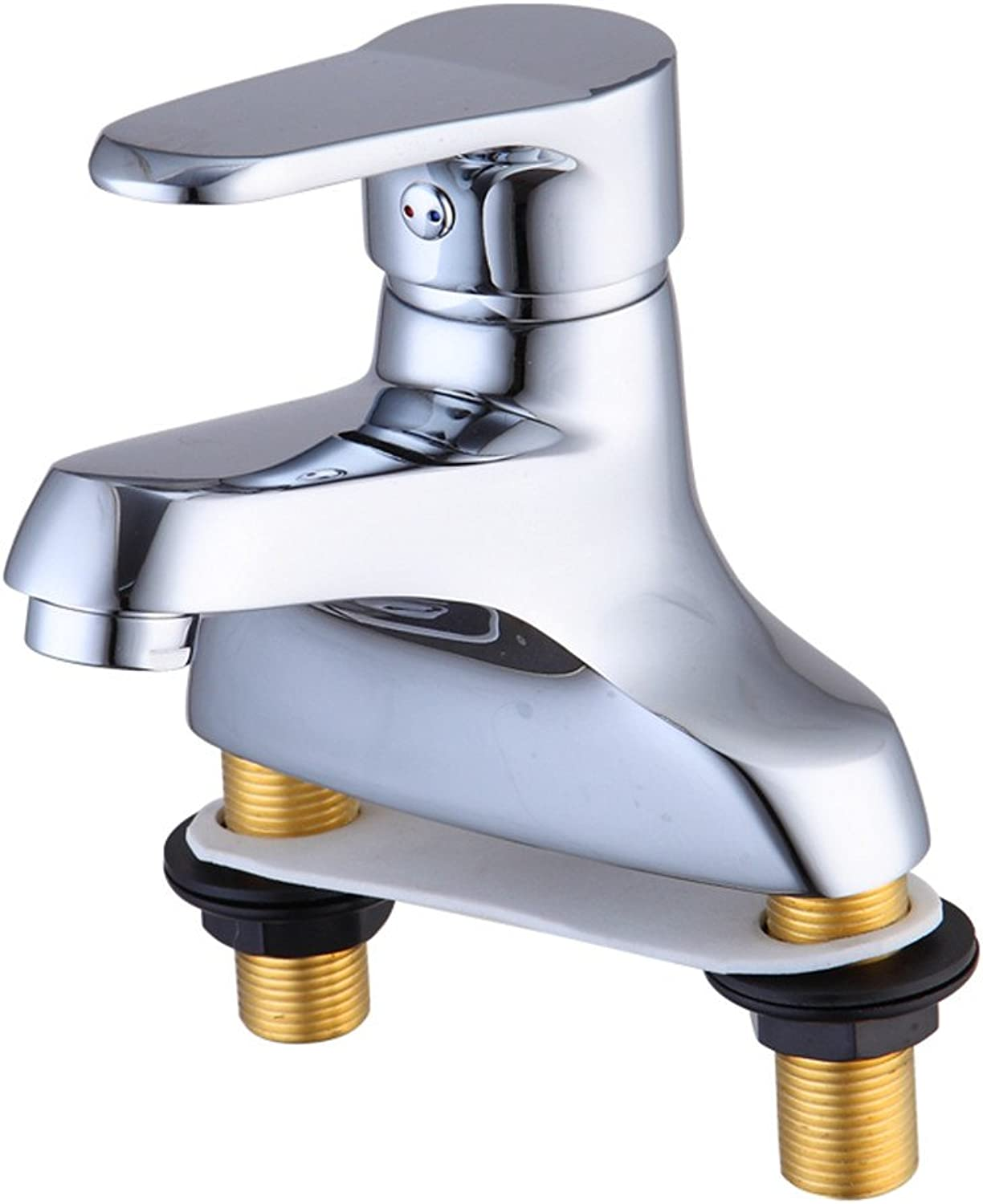 LHbox Basin Mixer Tap Bathroom Sink Faucet The copper double hole cold water basin continental to redate the hot and cold water taps