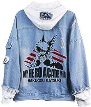 Cosstars My Hero Academia Anime Chaquetas de Mezclilla Denim Jacket Adulto Cosplay Jeans Hoodie Sudaderas Cárdigan