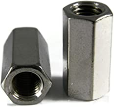 #8-32 X 5/16 x 1/2, Qty 10 Stainless Steel Coupling Nuts, Threaded Rod UNC