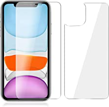 Beeyoka Front and Back Screen Protector for iPhone 11,Anti Scratch/Bubble Ultra Thin Tempered Glass Screen Protector Front Rear Film Compatible with iPhone 11 (6.1