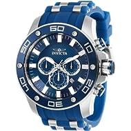 Invicta Men's Pro Diver Scuba Stainless Steel Quartz Watch with Silicone Strap, Blue, 26 (Model:...