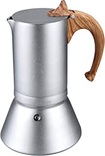 Lonyoung Stovetop Espresso Maker Moka Pots, 6 Cups/12oz Hard Anodized Aluminum Coffee Maker Suitable for Induction, Italian Espresso Stove Top Coffee Maker Brewer Percolator