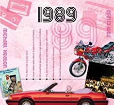 1989 Birthday or Anniversary Gift - 19 1989 Greeting Card