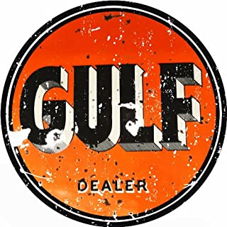 Extra Large Reproduction Gulf Gasoline Motor Oil Sign