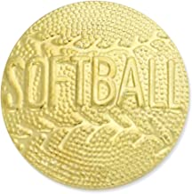 JDS Industries Softball Gold Chenille Sports Lapel Pin