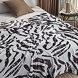 XOCKYE Gewichtsdecke Therapiedecke Weighted Blanket Schwere Decke für Erwachsene Gewichtete Decke Perfekt für Besseren Schlaf Tagesdecke@Zebra-Haut_150 x 200 cm