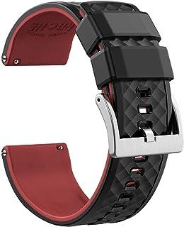 احزمة ساعة من السيليكون من ريتش مقاسات 18 ملم 19 ملم 20 ملم 21 ملم 22 ملم 23 ملم 24 مم سوار ساعة مطاطي سريع الفك للرجال
