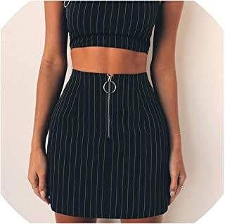 High Waist Mini Skirts Women Zipper Split Stretchy Bodycon Sexy Slim Casual Black Ladies Skirt Summer